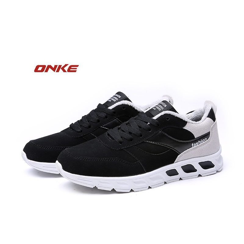 2017 ONK  New Style Men Running Shoes Outdoor  Training Shoes Sports Sneakers Men Keep Warm Winter Snow Shoes For Man
