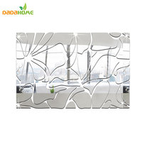 Waist Line Long Square 3D Three Dimensional Crystal Ornaments Mirror Wall Stickers Acrylic Mirrored Decorative Sticker