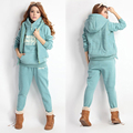 Sales Promotion 3pcs/set Womens Sets Casual Hoodies Hooded Outerwear Sweatshirt+Vest+Pants CoatsTracksuits Q1704