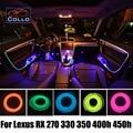 Гибкий Неон Холодный Свет/9 М Набор EL Провода Для Lexus RX 270 330 350 400 h 450 h/Автомобиль Центральный Пульт управления Декоративные Полосы