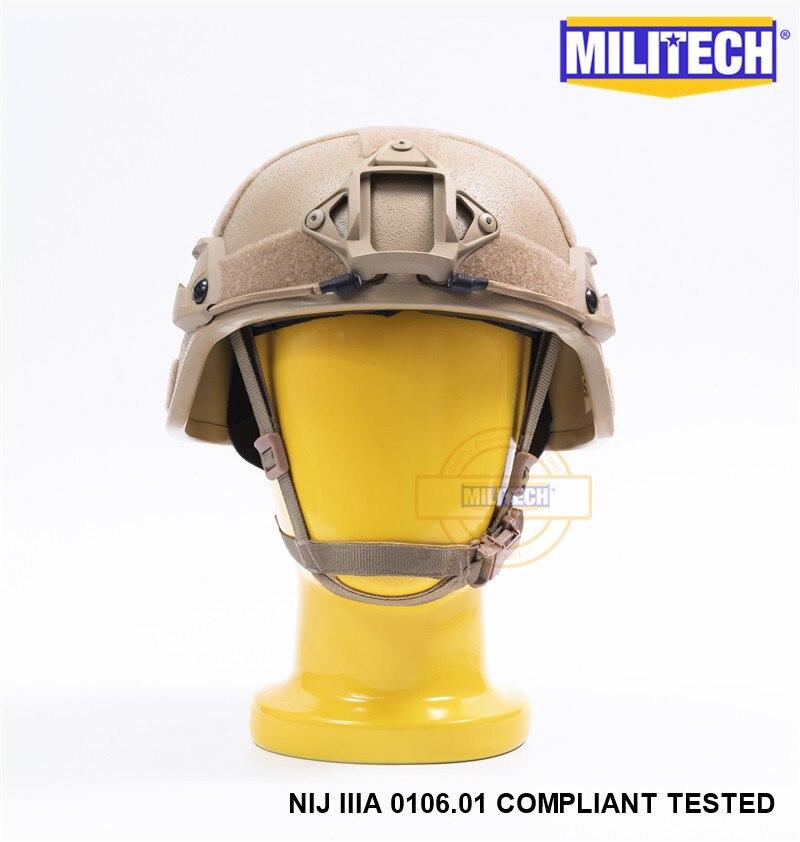 Image 2 - MILITECH Desert Tan DE MICH NIJ level IIIA 3A Tactical Bulletproof Aramid Helmet ACH ARC OCC Dial Liner Aramid Ballistic Helmetbulletproof ballistichelmet achhelmet helmet -