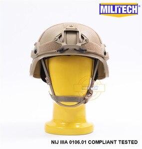 Image 2 - MILITECH Desert Tan DE MICH NIJ level IIIA 3A Tactical Bulletproof Aramid Helmet ACH ARC OCC Dial Liner Aramid Ballistic Helmet