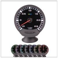 Universal Auto Gauge GReddi Sirius Meter Series Trust 63mm 7 colors Turbo Boost Gauge Meter Electronic Boost Sensor