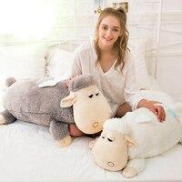 Cute 1pcs Big Size 55cm / 70cm Sheep Plush toy Soft Stuffed Alpaca Doll Large Pillow Cushion Children Toy Girls Birthday Gifts