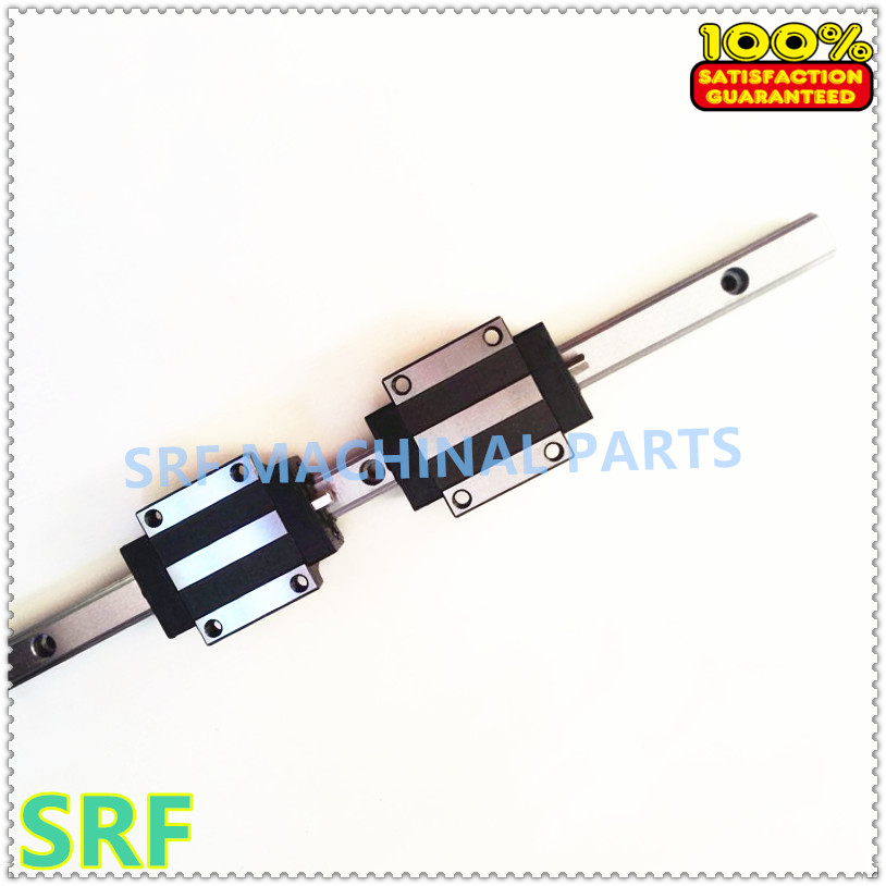 ФОТО 100% Brand New 1pcs  Linear Guide Rail  TRH15  L=400mm 15mm width with 1pcs TRH15A Linear Rail Flange  block for cnc