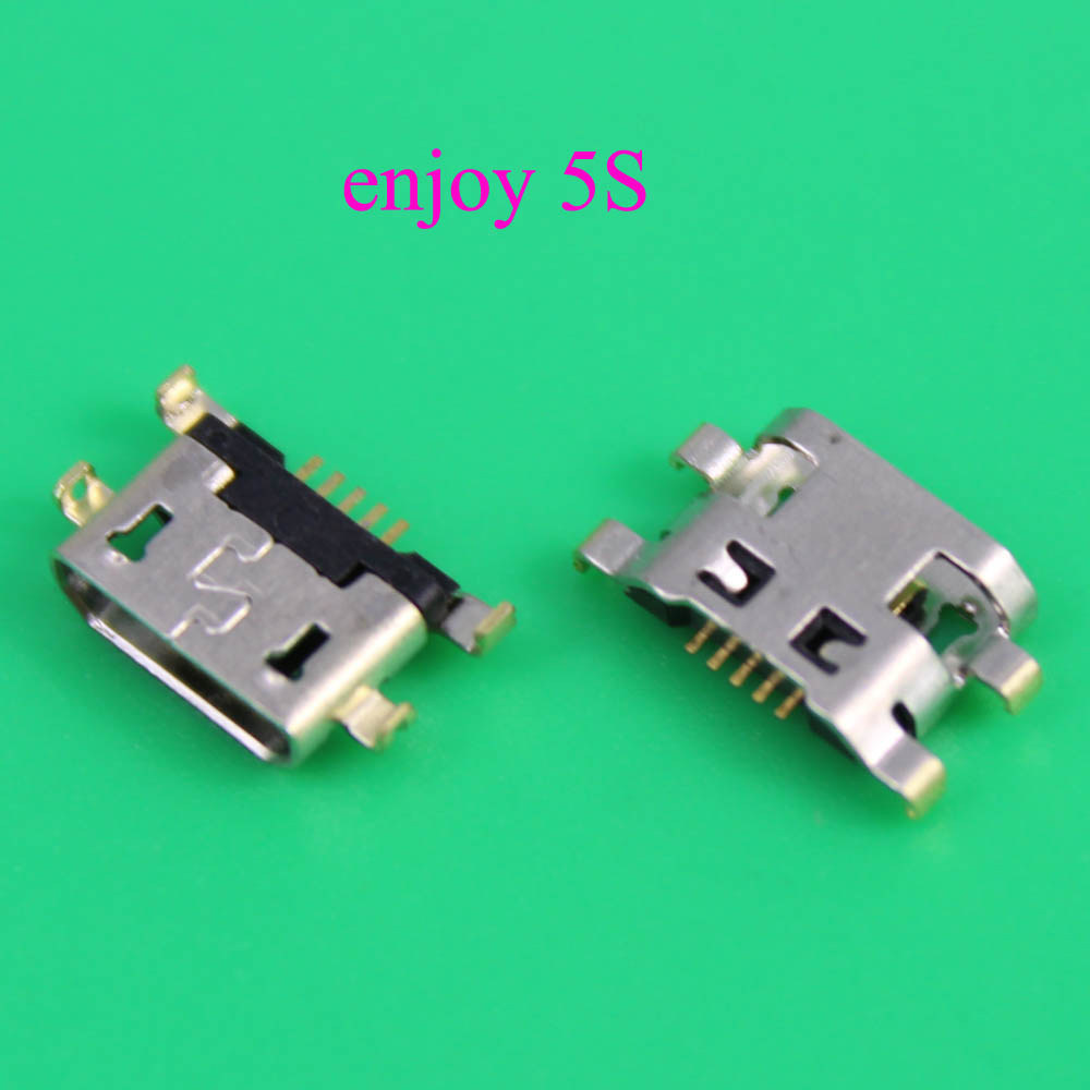 Lysee Mobile Phone Flex Cables YuXi 100pcs//lot Micro 5pin charging port usb connector dip 6.4 female connector B type