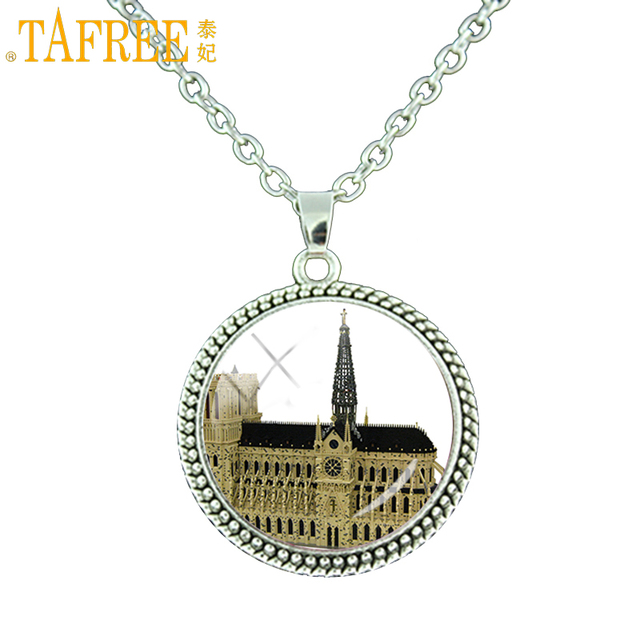 Tafree ancient gothic church notre dame de paris statement necklace tafree ancient gothic church notre dame de paris statement necklace vintage men women religious jewelry french aloadofball Choice Image