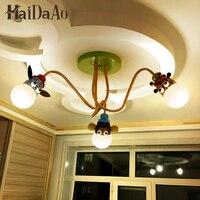 Светодиодный мультфильм детская комната лампы спальни потолочный светильник для мальчиков теплая одежда для девочек; детский сад лампы