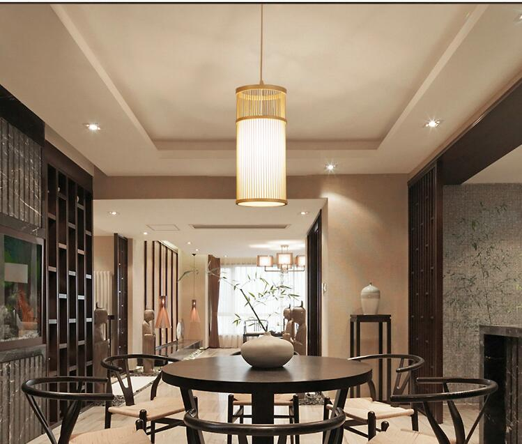 Japanese creative simple wood Pendant Lights restaurant bedroom bedside living room passageway bamboo Pendant Lamps ZA627 ZL116 bamboo creative chinese restaurant pendant lights bedroom living room japanese bamboo southeast pendant lamp zs69