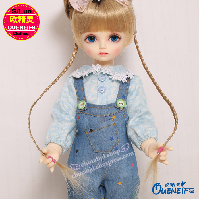 OUENEIFS free shipping ,Casual fashion sports suit,shirts, jeans suspenders,1/4 bjd/sd doll clothes,no doll or wig YF4-143 2015 fashion suspenders multi pocket jeans detachable suspenders bib pants holes denim overalls free shipping