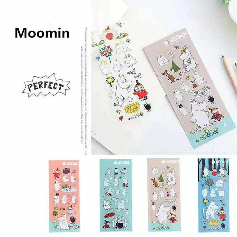 Moomin cartoon waterdichte mode skateboard sticker koelkast decoratie Macbook muumi gitaar sticker cosplay leuke boek sticker