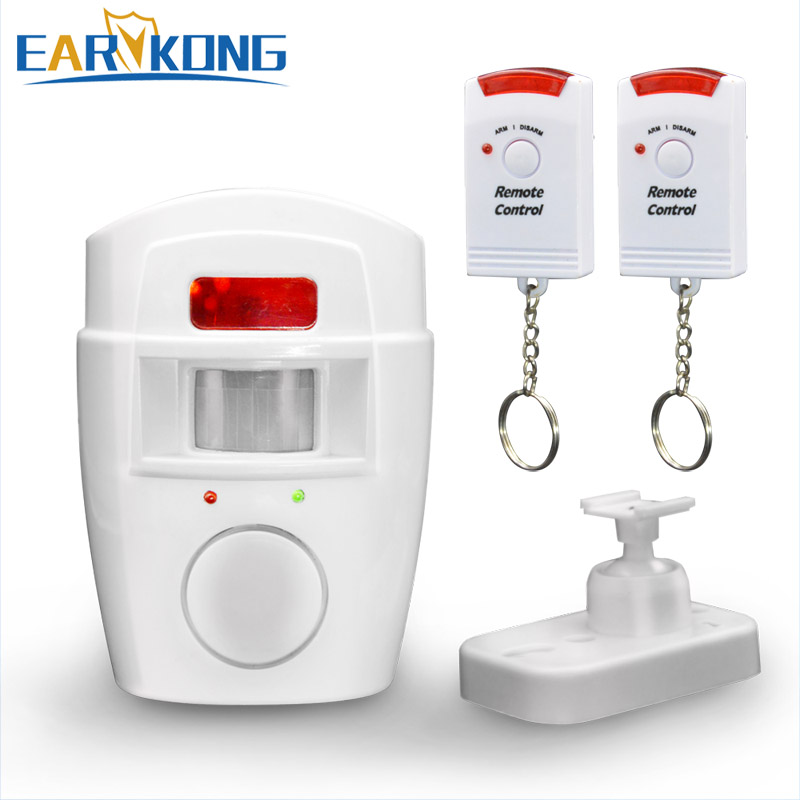 Home Security PIR MP Alert Infrared Sensor Anti-theft Motion Detector Alarm Monitor Wireless Alarm system+2 remote control