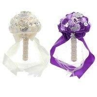 Ślub Druhna Bridal Bling Krystalicznie Koralikami Kwiaty Sztuczne Bukiety Bukiet Broszka Wedding Supplies Hot Sprzedaż