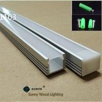 10 40pcs/lot 20 80m led aluminium profile for 11mm PCB board ,W16*H12 led bar light housing, led tape light channel