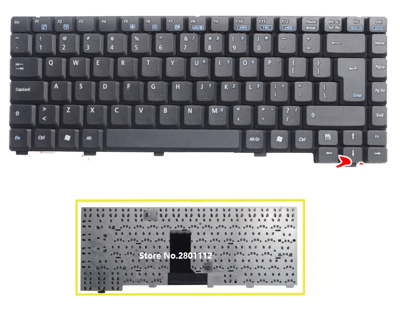 SSEA Free Shipping New Laptop UI Keyboard English For <font><b>ASUS</b></font> A6J A3 A6000 <font><b>A3000</b></font> A6 A6T A6R image