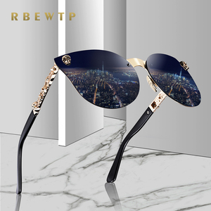 RBEWTP 2019 Fashion Women Gothic Sunglasses Skull Frame Metal Temple High Quality Gold Sun glasses Oculos De Sol Feminino Luxury(China)