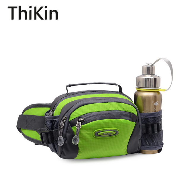 ThiKin Women Travel Fanny Pack Nylon Waterproof Adjustable Strap Men Waist Bag Lightweight Water Bottle Waist Belt Bag