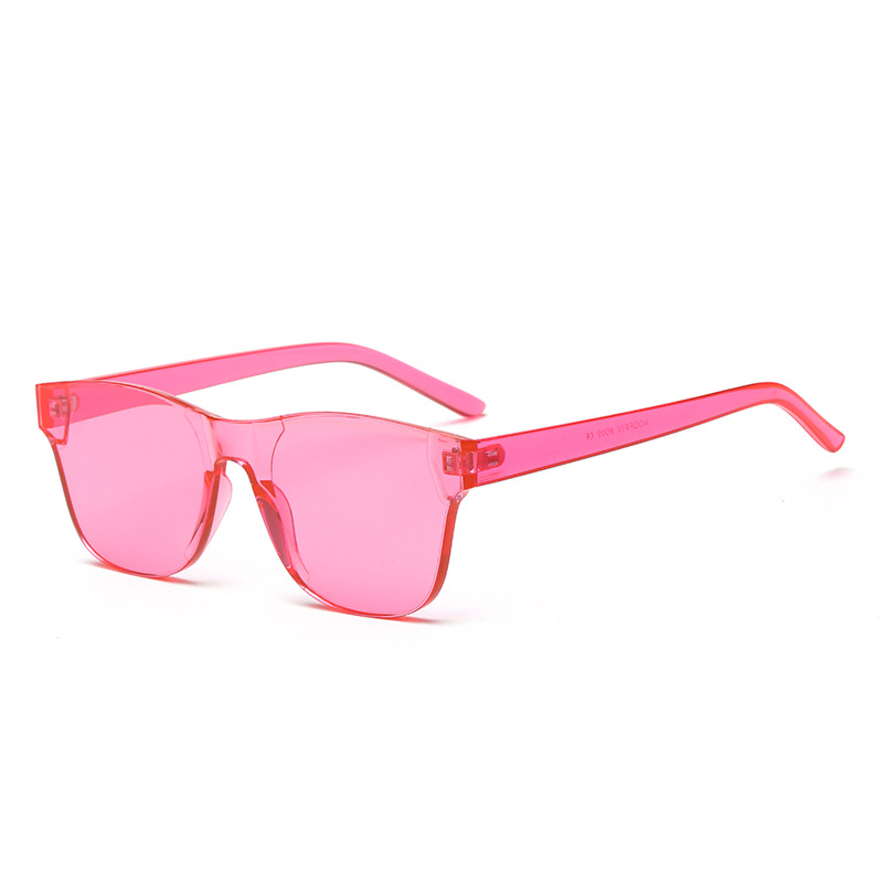 Transparent Candy Color Sunglasses Women Colorful Square Rimless Sunglasses Frameless Eyewear Sun Glasses for Men in Women 39 s Sunglasses from Apparel Accessories