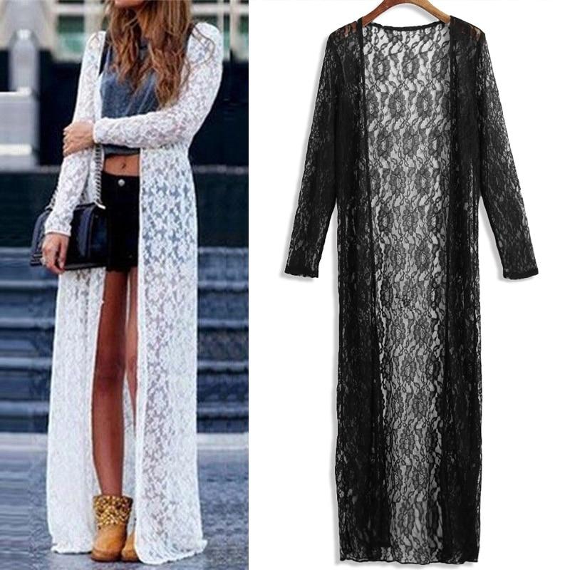 2019 pikem kleit / kimono / kardigan - värvivalikus valge ja must 1