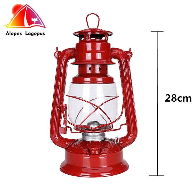 2017 Latest hight 28cm Retro Classic Kerosene Lamp Camping & Hiking Lamp Holder Candle Lantern Tent Lamp Film Shooting Props