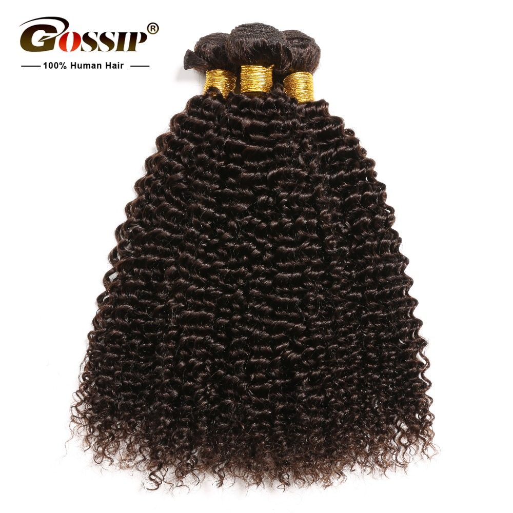 Afro Kinky Curly Hair Peruvian Hair Bundles Real Mänskliga Hårpaket Deal 100% Human Hair Extension Non Remy Weave Bundles