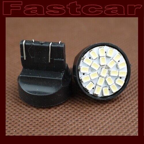 100X T20 W21/5W WY21W 7443 22 SMD 3020 22 led bulb White lamp car brake lights rear lighting free shipping
