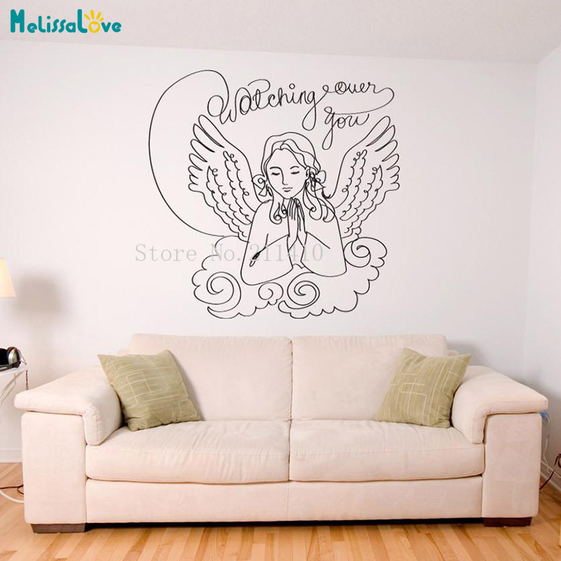 Beautiful wall decals watching over you wallpaper sticker - Beautiful wall stickers for living room ...