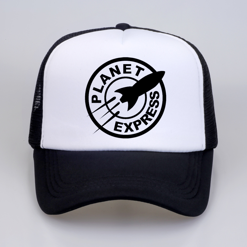 Planet Express Baseball Caps Rock Band cap Summer men women Cool Pop Mesh Net Trucker Cap Dad Hat