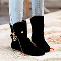 Plus size 34-43 new spring ankle boots for women flat shoes botas femininas fashion girls shoes women black boots female 2017