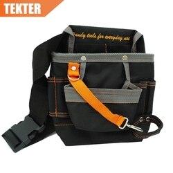 TEKTER عالية الجودة 8 جيوب 600D أكسفورد حقيبة التخزين كهربائي الخصر أداة حامل الأكياس حزام العمل 278 جرام