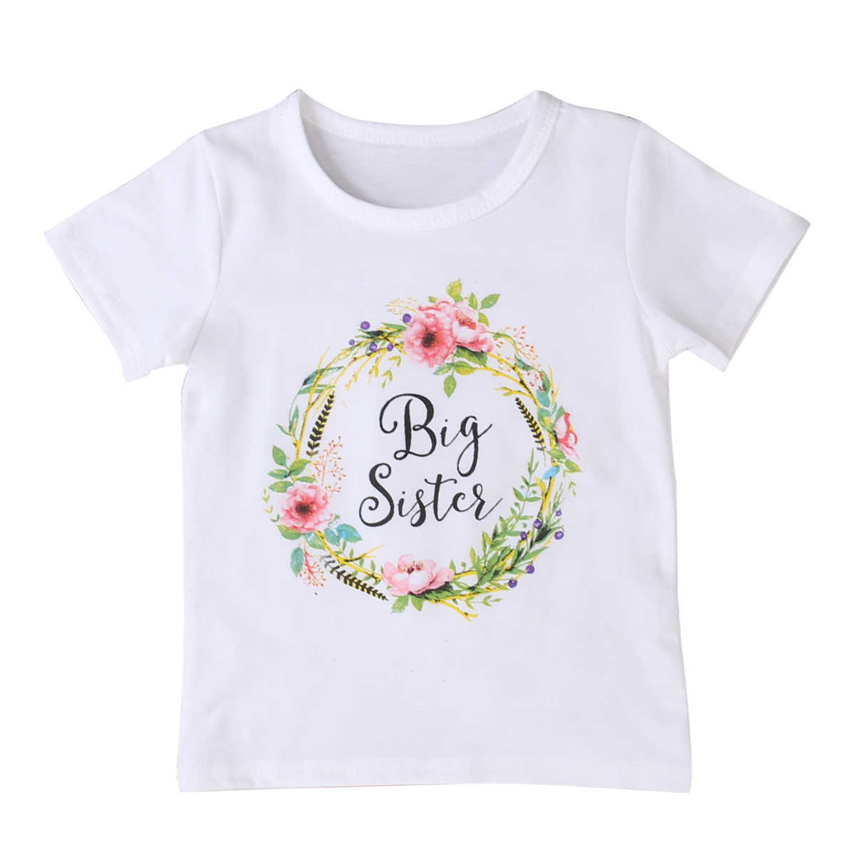 Pudcooco Baby Kid Girl Little Big Sister Cotton Clothes Jumpsuit Romper Outfits T Shirt New Hot Fashion