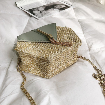 Hexagon Straw Rattan Bag 4