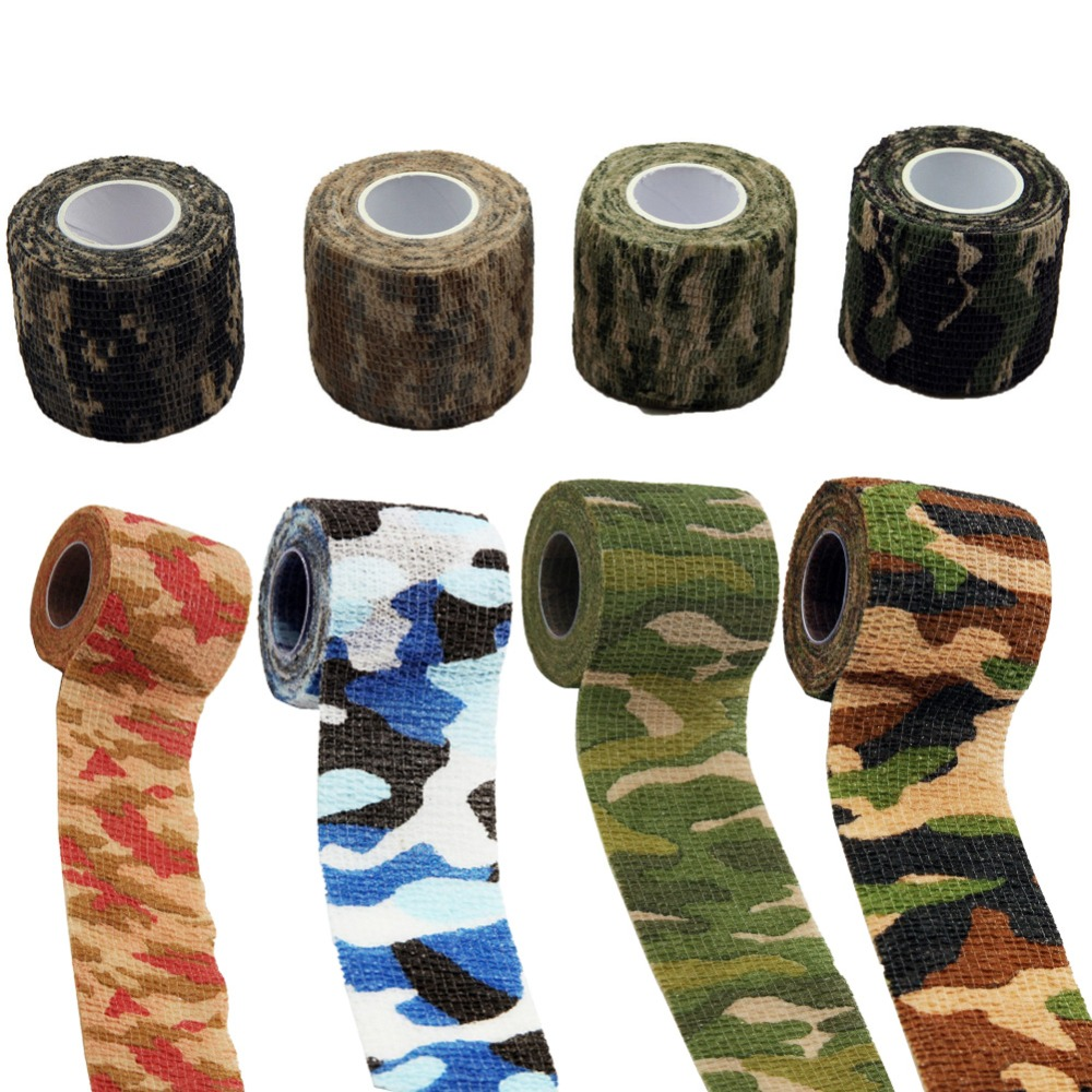 Cycling-Tape Camo-Wrap Shooting Rifle/gun Outdoor Stealth Stretch For Taps 5m--5cm Bandage