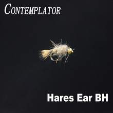 CONTEMPLATOR 4pcs #14 Bead Head Hares Ear rough body fast sink deadly wet lures artificial nymph bait peeping caddis fly fishing