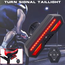 USB Rechargeable LED Cycling Taillight Riding Turn Signal Lights MTB Road Bike Wireless Remote Control Smart Warning Rear Light(China)