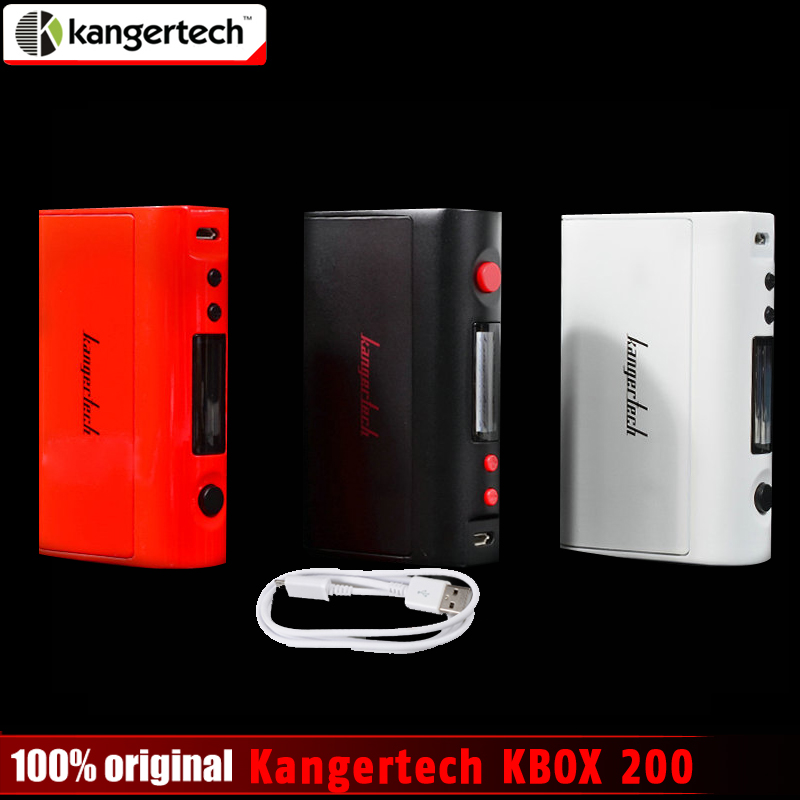 bilder für Förderung --- Original Kangertech Kanger KBOX 200/200 Watt Mod Temperaturregelung Variable Wattage Box Mod anzug für 18650 batterie