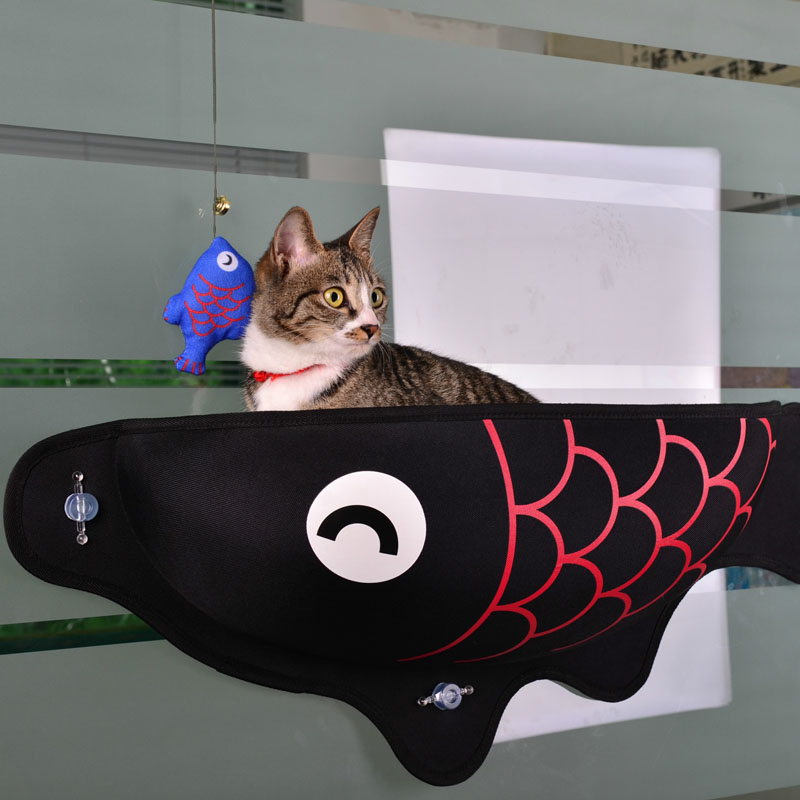 Cat Window Bed Cat Lounger Bed Hammock Sofa Mat Lounger Perch Cushion Hanging Shelf Seat with Suction Cup for Ferret Chinchilla 26