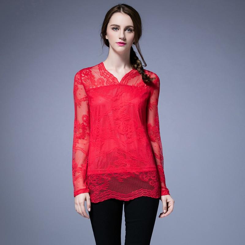 الأزياء الأحمر L-5XL المرأة الرباط - ملابس نسائية