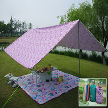 5+ person sunshade awning outdoor account awning awning sun rain camping TENTS,multipurpose color 300D encrypted oxford cloth