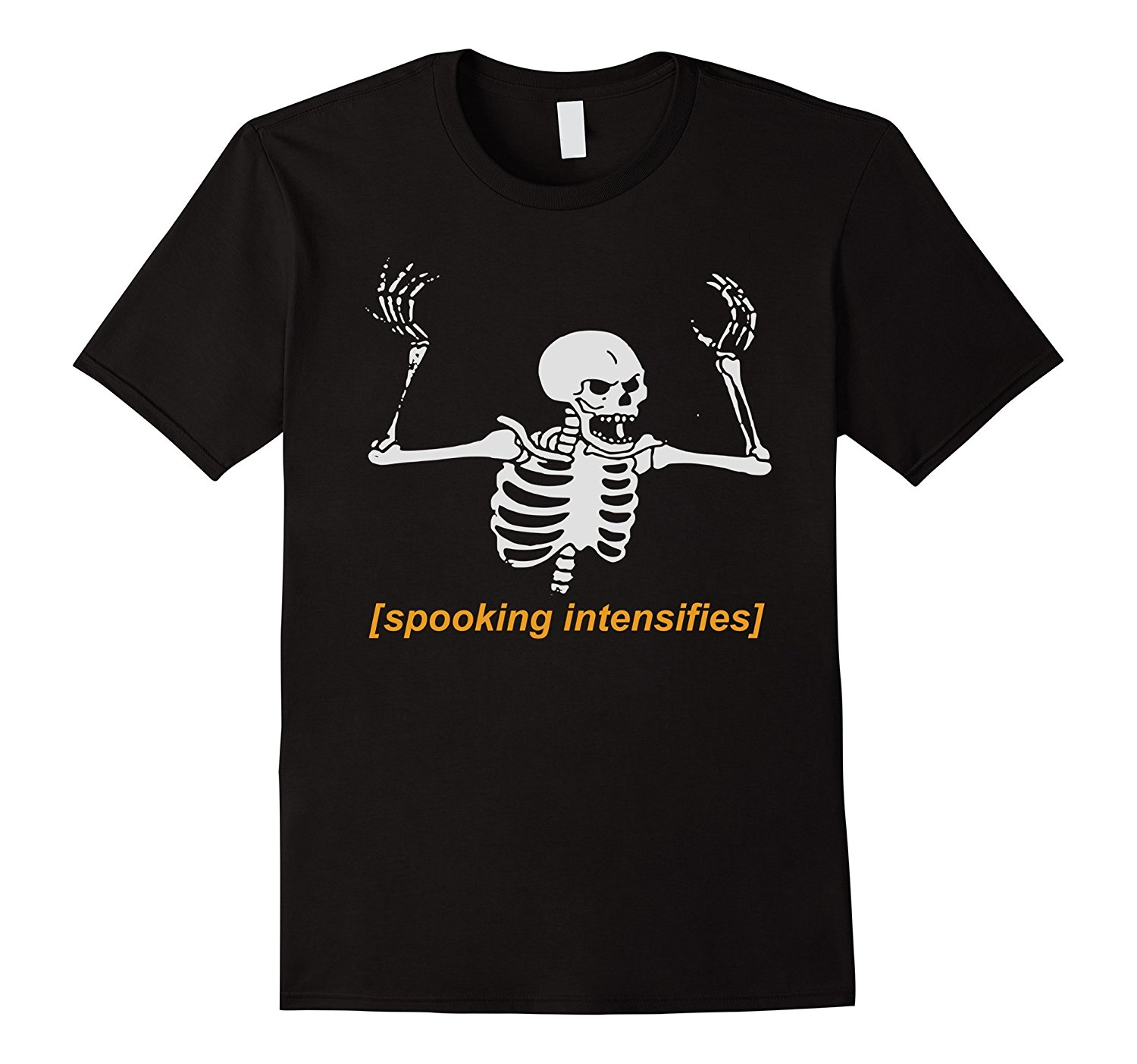 Spooking Intensifies Spooky Scary Skeleton Meme   T  -  Shirt   Hot Summer Men'S   T     Shirt   Fashion