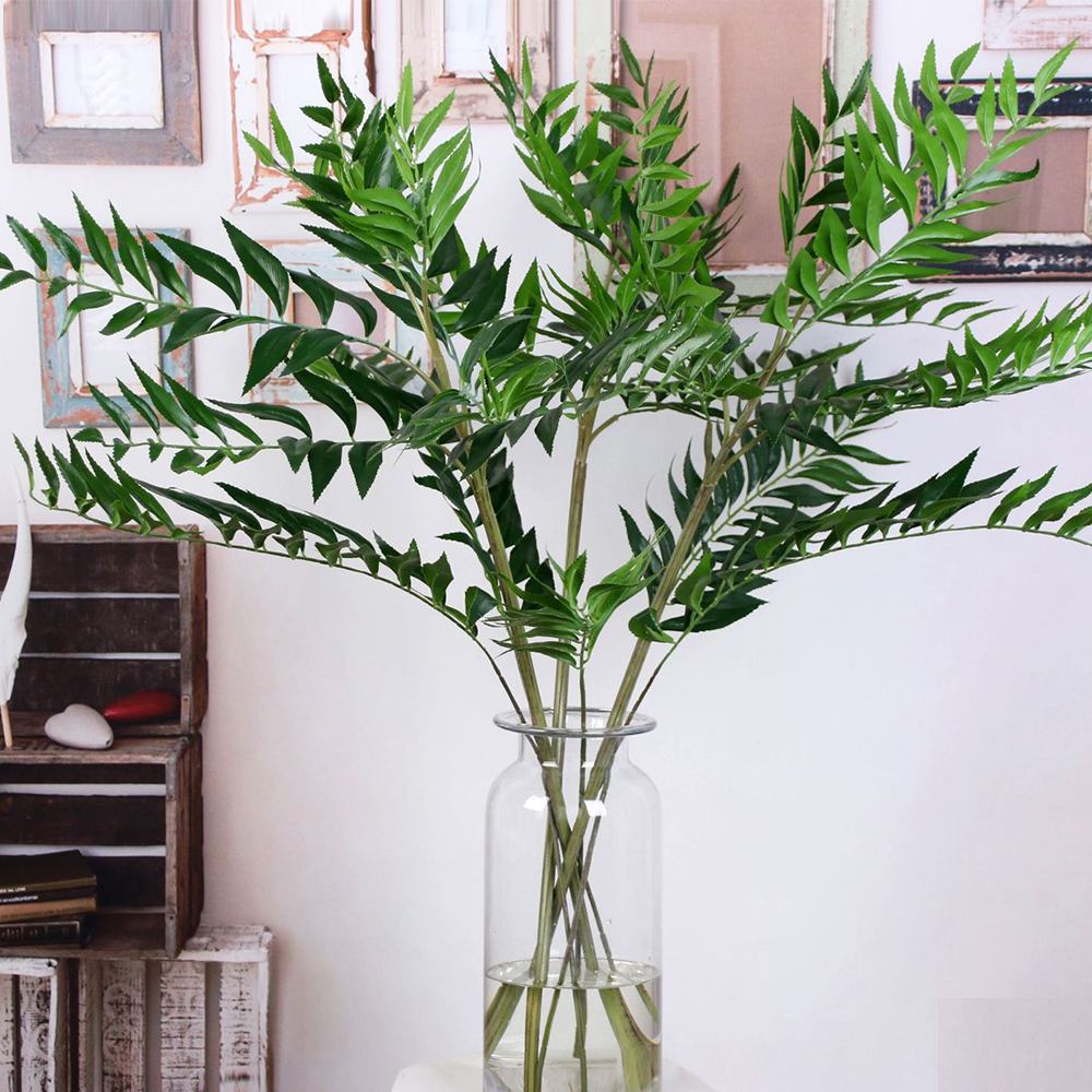 Simulation Leaf Plant Simulation Artificial Flower Wedding Home Scene Background Stage Arrangement Leaves Artificial Peach Leaf