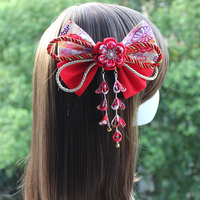 Japanese Style Hair Pins Claw Clip Yukata Kimono Kanzashi Graduation Wedding Adult Ceremony Hair Ornament Fine Crafted HW020