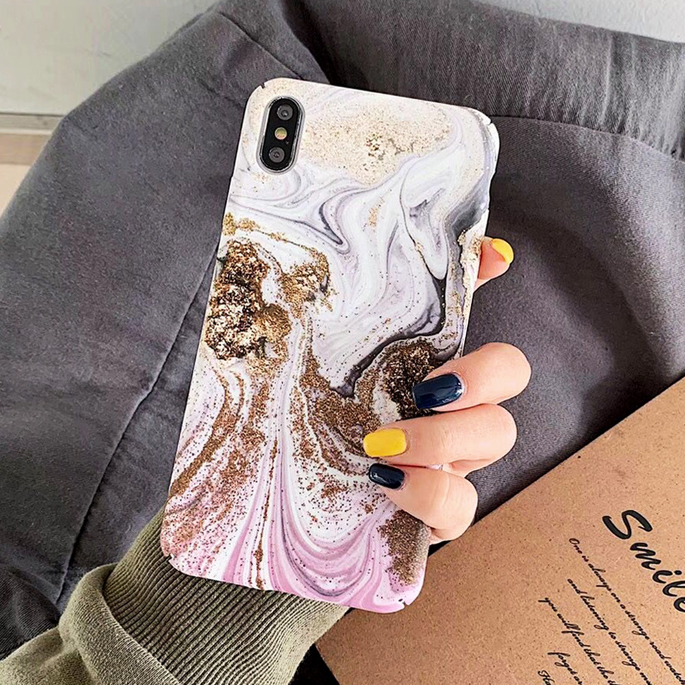 KIPX1093_11_JONSNOW Marble Pattern Phone Case for iPhone XS XR XS Max 7 8 Plus 6S 6 Plus Case Fashion All-inclusive PC Hard Back Cover Capa Fundas