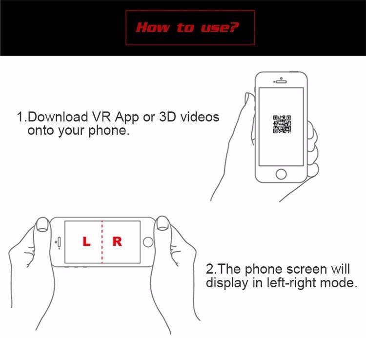 18 Original Shinecon VR Pro Virtual Reality 3D Glasses Headset VRBOX Head Mount Google Cardboard Helmet For Smartphone 4-6inch 32