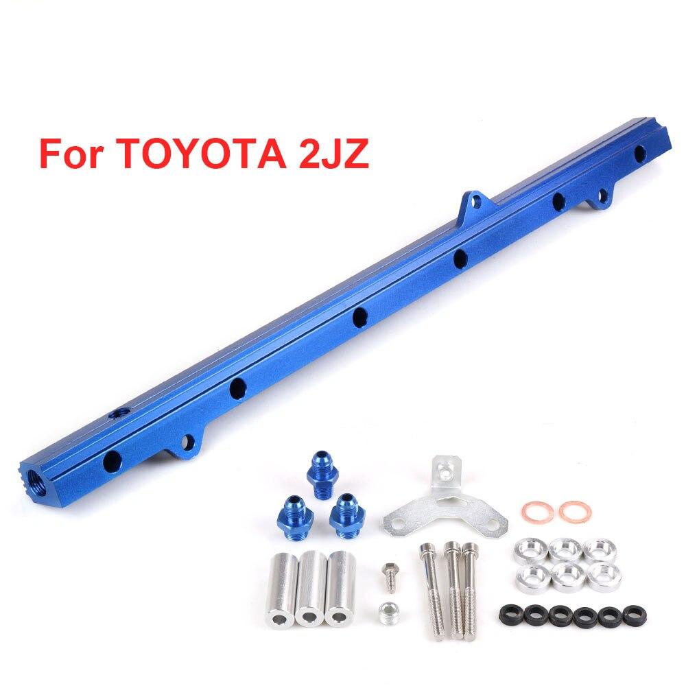 RACING Fuel Rail Kit for Toyota Supra Aristo JZA80 2JZ Turbo UPGRADE 92-02 BLACK