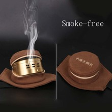 MOXA Moxibustion smokeless bag with moxibustion single moxibustion box pure copper cloth cover Does not include copper boxes цена 2017