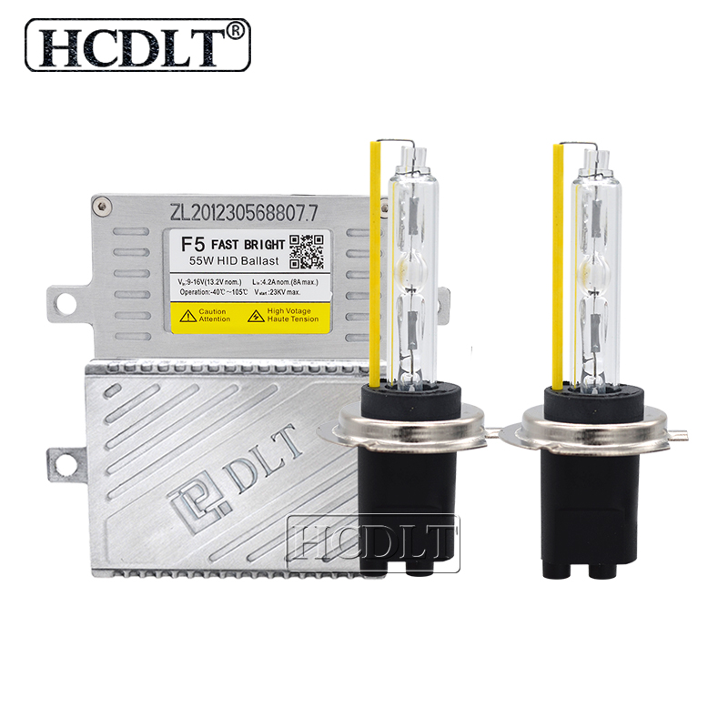 HCDLT AC 12V 5500K Fast Bright 55W HID Xenon Conversion Kit Car Light Reactor DLT F5T