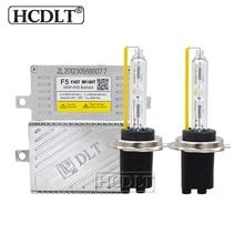 Hcdlt переменного тока 12 V 5500 к Быстрый Яркий 55 Вт HID переделка в ксенон комплект Автомобильный свет реактор покрытый кожухом DLT F5T балласт ксенона H1 H3 H7 H11 HB3 HB4 D2H