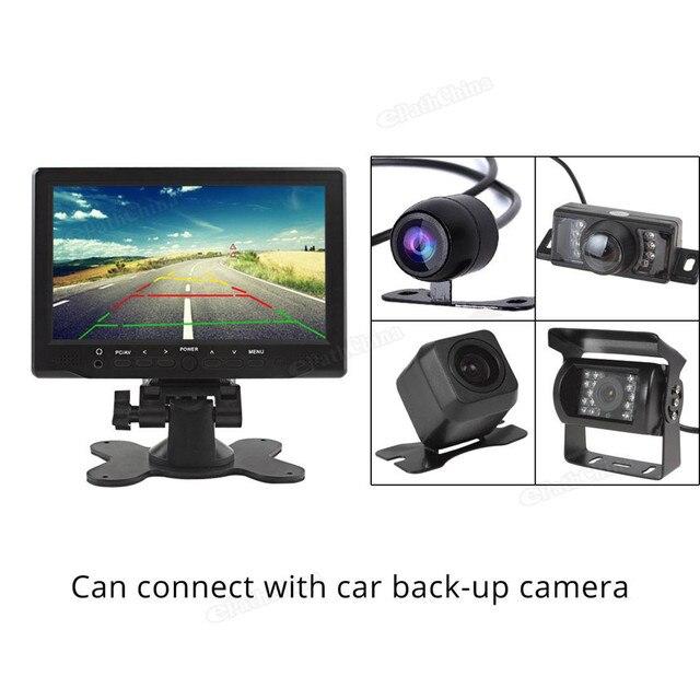 Marca Nueva 800x480 7 pulgadas de Color Brillante Interfaz HDMI VGA AV Monitor Del Coche TFT LCD