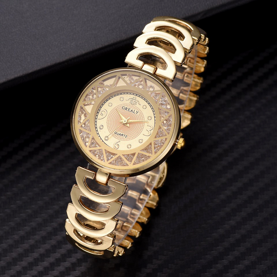 2019 Top Brand Luxury Watches Women Fashion Hollow Stainless Steel Bracelet Wristwatch Relogio Feminino Montre Relogio Clock